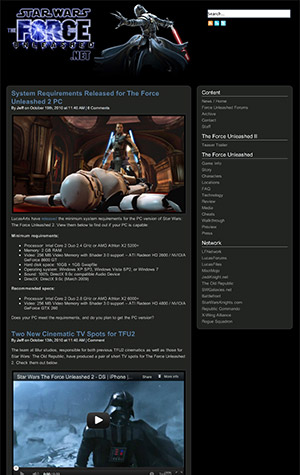 ForceUnleashed.net site