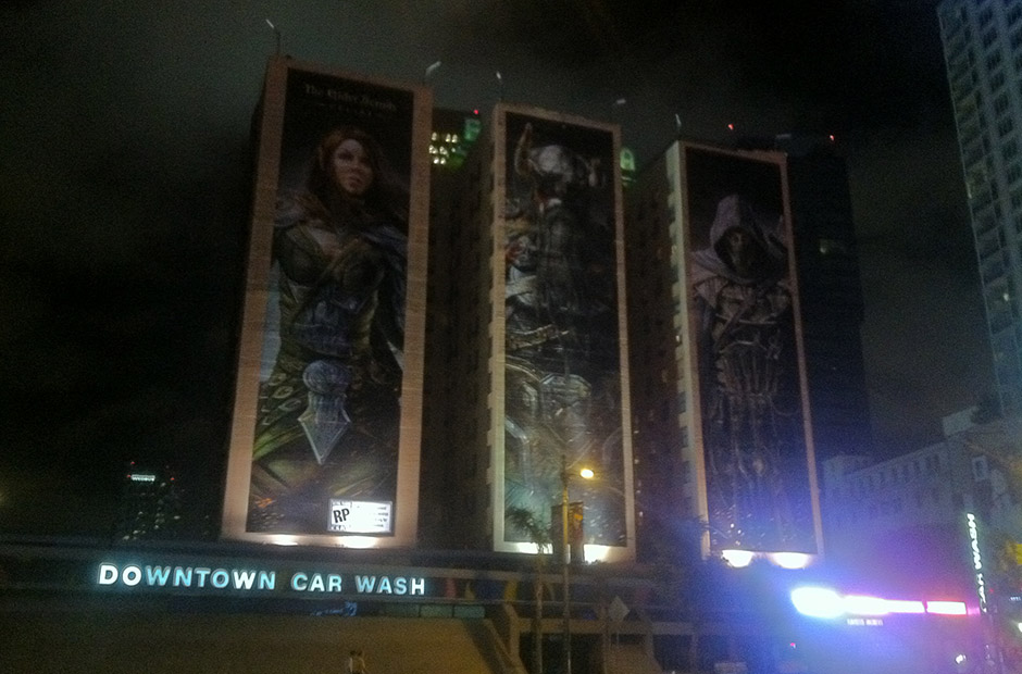 Building advertisements for The Elder Scrolls Online