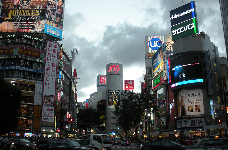 Shibuya Crossing in evening