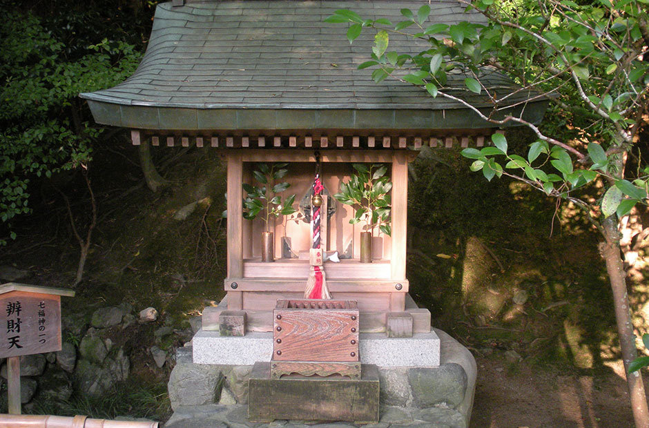 small shrine at Ginkakuji