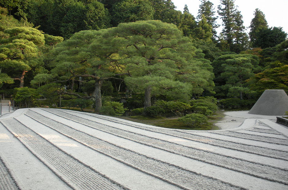 Zen Garden at Ginkakuji temple