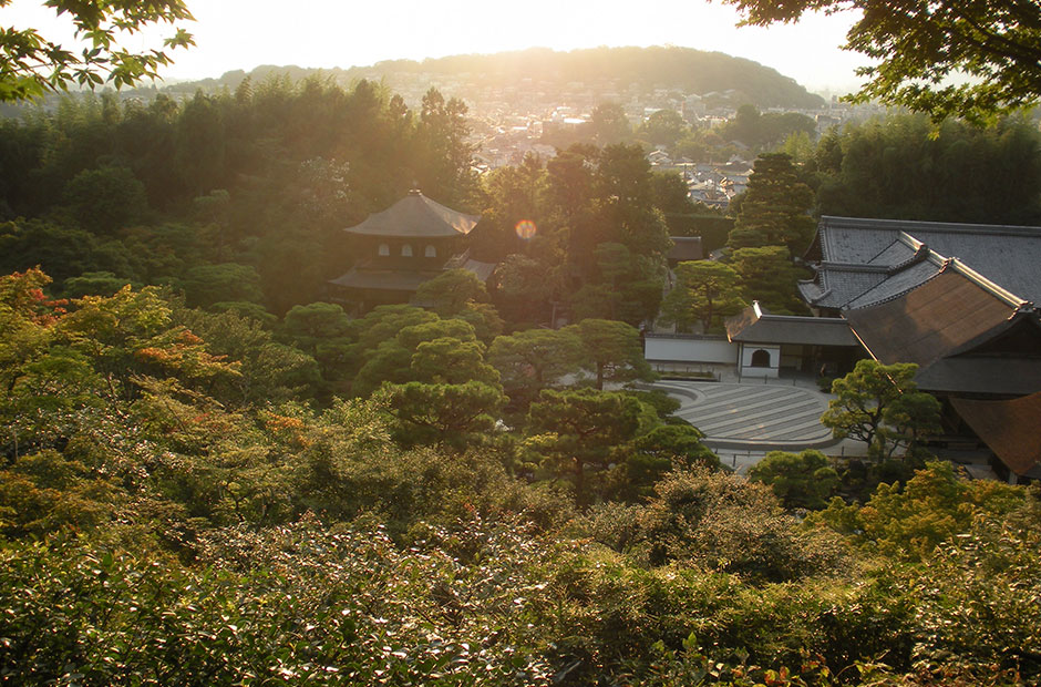 View of Ginkakuji Temple